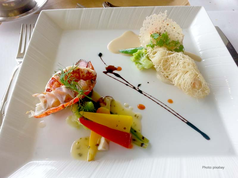 Lobster as an art in the plate