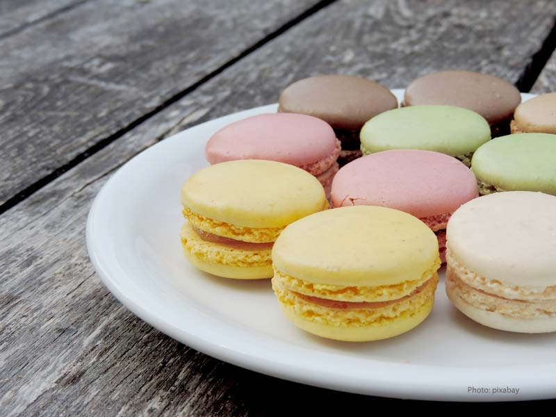 Macarons - cake type with almond flour