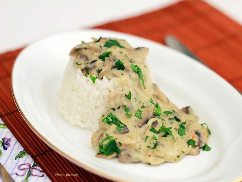 Mushroom with rice