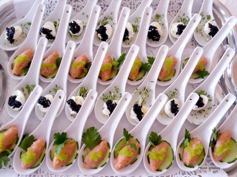 Salmon - art in cuisine
